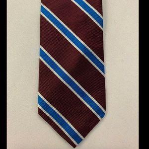 J Crew Men's Purple Striped Tie 100% Silk